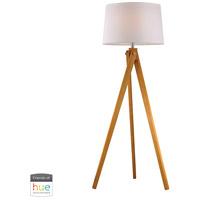 Spark & Spruce 24070-NWL Talladega 63 inch 60 watt Natural Wood Tone Floor Lamp Portable Light