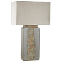 Spark & Spruce 20339-GS Dottie 32 inch 60 watt Grey/Natural Slate Outdoor Table Lamp in Incandescent