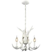 Spark & Spruce 20342-W Clara 3 Light 17 inch White Chandelier Ceiling Light