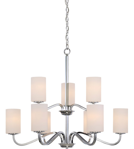 Satco 605809 willow 9 light 32 inch polished nickel chandelier satco 605809 willow 9 light 32 inch polished nickel chandelier ceiling light aloadofball Choice Image