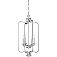 Satco 60/5800 Willow 4 Light 14 inch Polished Nickel Pendant Ceiling Light