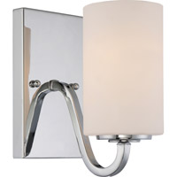 Satco 60/5801 Willow 1 Light 4 inch Polished Nickel Vanity Light Wall Light