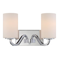 Satco 60/5802 Willow 2 Light 14 inch Polished Nickel Vanity Light Wall Light