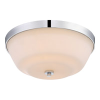 Satco 60/5804 Willow 2 Light 14 inch Polished Nickel Flush Mount Ceiling Light
