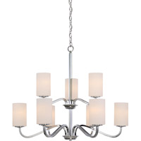 Satco 60/5809 Willow 9 Light 32 inch Polished Nickel Chandelier Ceiling Light