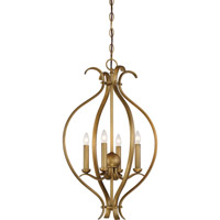 Dillard 4 Light 16 inch Natural Brass Pendant Ceiling Light