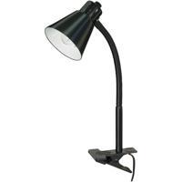 Satco 60/843 Heartland 13 inch 40.00 watt Black Clip On Gooseneck Lamp Portable Light