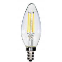 Satco S28613 Lumos LED C11 Candelabra E12 4 watt 120V 2700K Light Bulb
