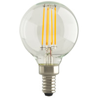 Satco S29988 Lumos LED G16 1/2 Candelabra E12 5.5 watt 120V 2700K Light Bulb