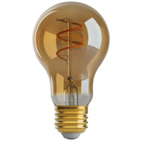 Satco S9966 Lumos LED A19 Medium E26 4.5 watt 120V 2000K Light Bulb LED Spiral Filament