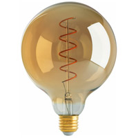 Satco S9969 Signature LED G40 Medium 4 watt 120 2200K Light Bulb LED Spiral Filament