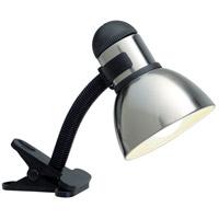 Satco SF76/357 Heartland 9 inch 60.00 watt Black and Steel Clip On Gooseneck Lamp Portable Light
