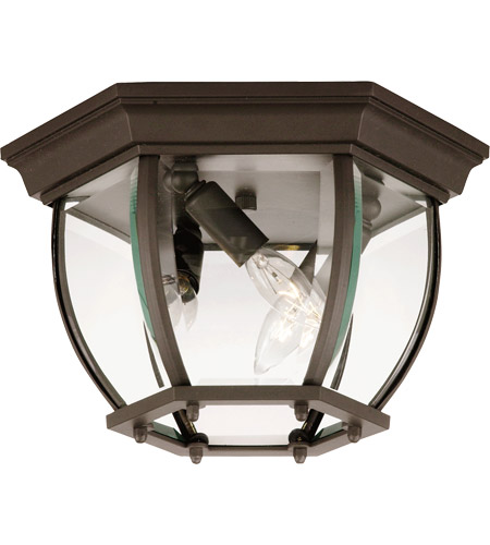 Savoy House Exterior Collections 3 Light Outdoor Flush Mount in Bronze 07038-BZ photo