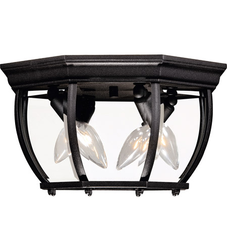 Savoy House Exterior Collections 3 Light Outdoor Flush Mount in Black 07039-BK photo