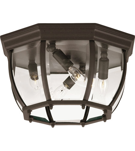Savoy House Exterior Collections 4 Light Outdoor Flush Mount in Bronze 07039-BZ