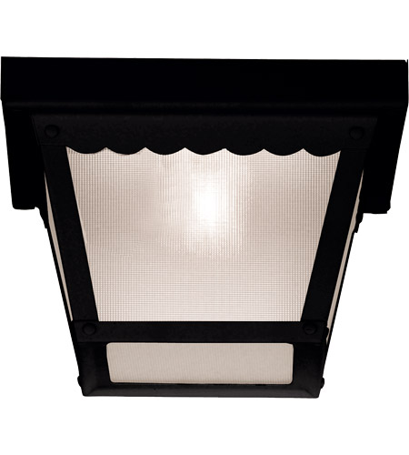 Savoy House 07044-BLK Exterior 1 Light 8 inch Black Flush Mount Ceiling Light photo