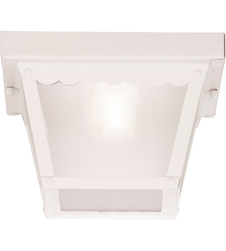 Savoy House Exterior 1 Light Flush Mount in White 07044-WHT photo