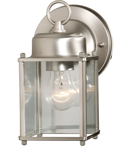 Savoy House Main Street Exterior Collections Wall Mount Lantern in Satin Nickel 07047-SN photo