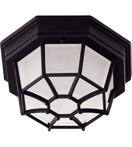 Savoy House 07065-BLK Signature 1 Light 9 inch Black Outdoor Flush Mount photo