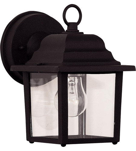 Savoy House Signature 1 Light Wall Lantern in Black 07067-BLK photo