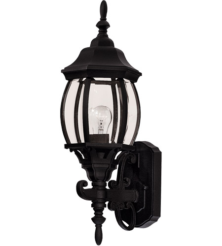 Savoy House Exterior Collections 1 Light Outdoor Wall Lantern in Black 07073-BLK photo