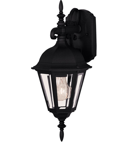 Savoy House Exterior Collections 1 Light Outdoor Wall Lantern in Black 07075-BLK