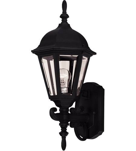 Savoy House Exterior Collections 1 Light Outdoor Wall Lantern in Black 07076-BLK photo