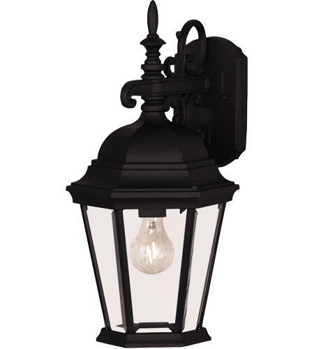 Savoy House Signature 1 Light Wall Lantern in Black 07077-BLK photo