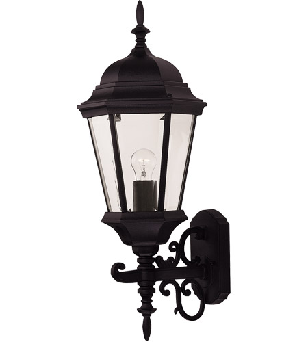 Savoy House Exterior Collections 1 Light Outdoor Wall Lantern in Black 07078-BLK
