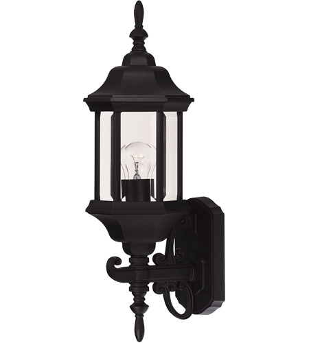Savoy House Exterior Collections 1 Light Outdoor Wall Lantern in Black 07080-BLK photo