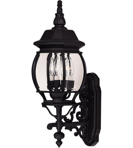 Savoy House Exterior Collections 3 Light Outdoor Wall Lantern in Black 07093-BLK photo