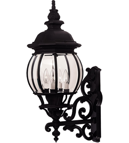Savoy House Exterior Collections 4 Light Outdoor Wall Lantern in Black 07094-BLK photo