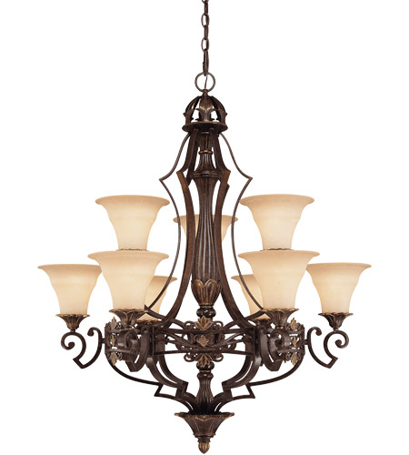 Savoy House Southerby 9 Light Chandelier in Florencian Bronze 1-0151-9-76 photo