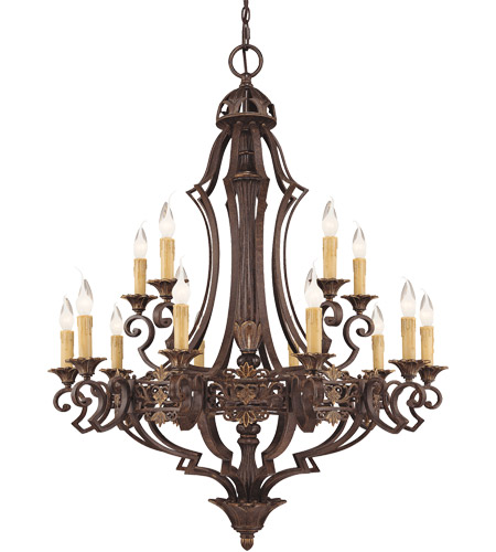 Savoy House Southerby 15 Light Chandelier in Florencian Bronze 1-0153-15-76