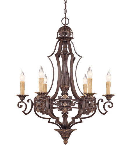Savoy House Southerby 6 Light Chandelier in Florencian Bronze 1-0161-6-76 photo