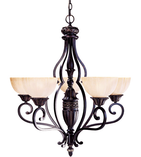 Savoy House Bedford 5 Light Chandelier in Distressed Bronze 1-041-5-59 photo
