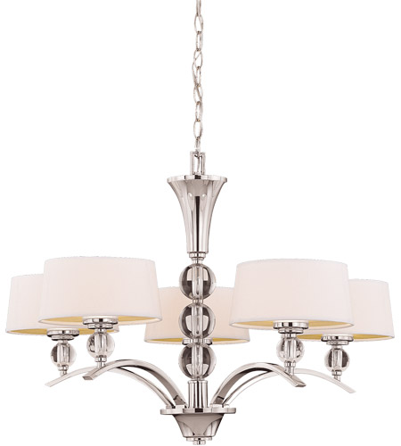 Savoy House 1-1035-5-109 Murren 5 Light 30 inch Polished Nickel Chandelier Ceiling Light photo