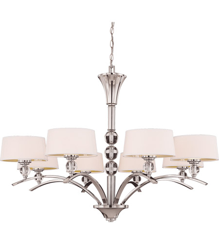 Savoy House 1-1036-8-109 Murren 8 Light 41 inch Polished Nickel Chandelier Ceiling Light photo