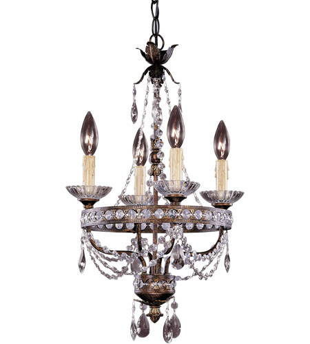 Savoy House Signature 4 Light Chandelier in New Tortoise Shell w/Silver Gold 1-1043-4-8