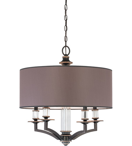 Savoy House Moderne Royal 5 Light Chandelier in Distressed Bronze 1-1070-5-59 photo