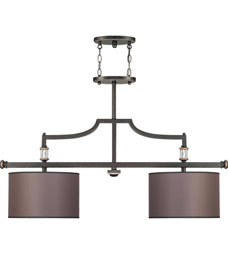 Savoy House Moderne Royal 2 Light Island Light in Distressed Bronze 1-1071-2-59 photo