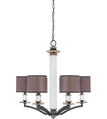 Savoy House Moderne Royal 6 Light Chandelier in Distressed Bronze 1-1074-6-59 photo
