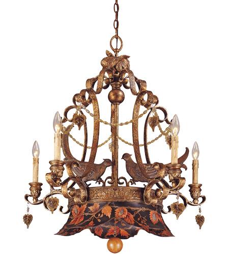 Savoy House Tracy Porter Regal Pheasant 5 Light Chandelier ...