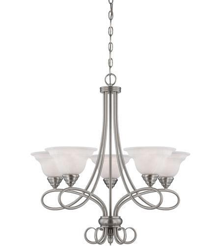 Savoy House Polar 5 Light Chandelier in Pewter 1-120-5-69