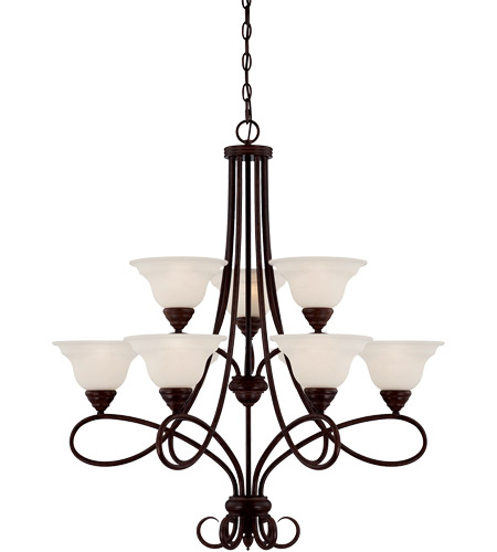 Savoy House Oxford 9 Light Chandelier in English Bronze 1-121-9-13 photo