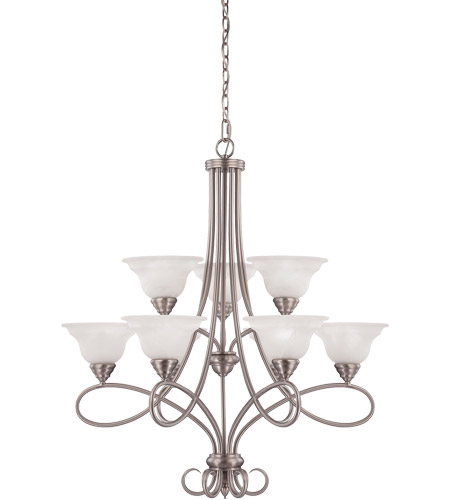 Savoy House Polar 9 Light Chandelier in Pewter 1-121-9-69 photo