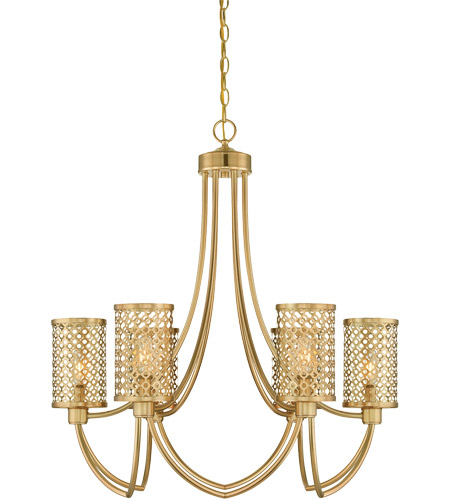 Savoy House Fairview 6 Light Chandelier in Rubbed Brass 1-1280-6-325 photo