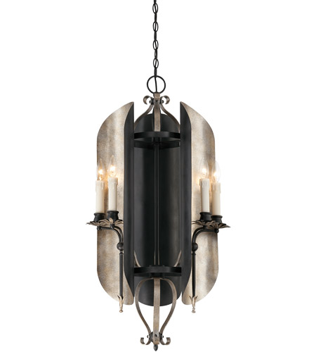 Savoy House Amiena 6 Light Chandelier in Aged Iron with Soft Copper Accents 1-1320-6-326