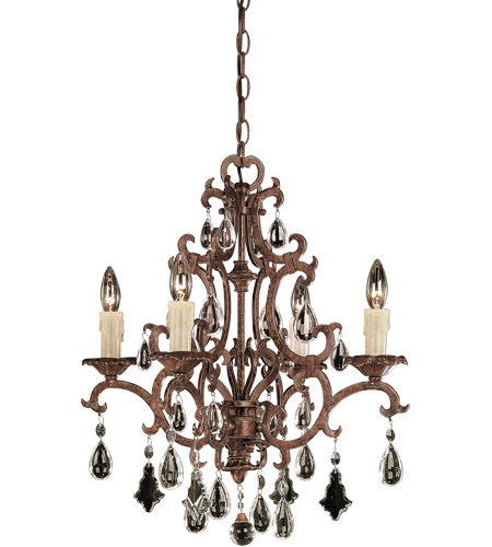 Savoy House 1-1400-4-56 Florence 4 Light 21 inch New Tortoise Shell Chandelier Ceiling Light photo