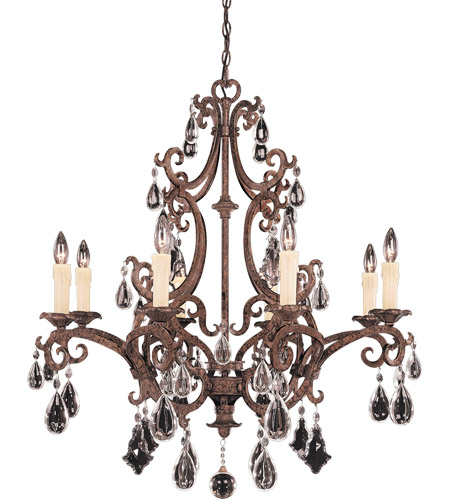 Savoy House 1-1401-8-56 Florence 8 Light 33 inch New Tortoise Shell Chandelier Ceiling Light photo
